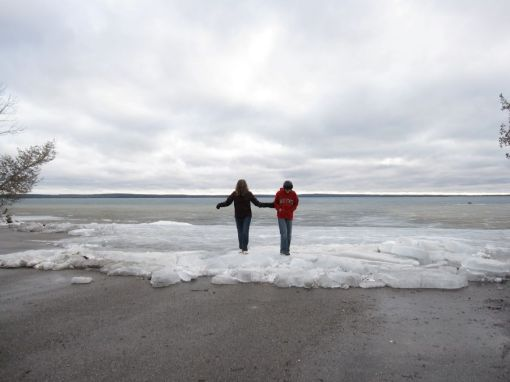 Kristi and Luke on the ice