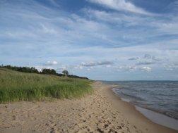 Northern shore of Lake Michigan