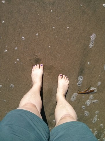 It's hard taking photos of your feet in the ocean when the waves are crashing into you and you don't want to drop your new phone.