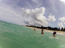 Swimming in the Atlantic. These conditions are inhumane. Photo by Ryan Cowles.