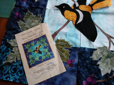This pattern was first published in 2003. I was totally captivated by it. Reminds me of the Baltimore Orioles that we would see in spring when we lived on the farm