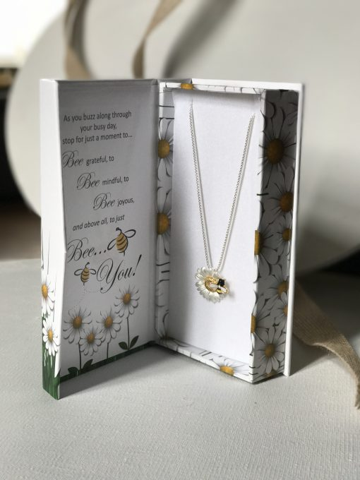 bee necklace box