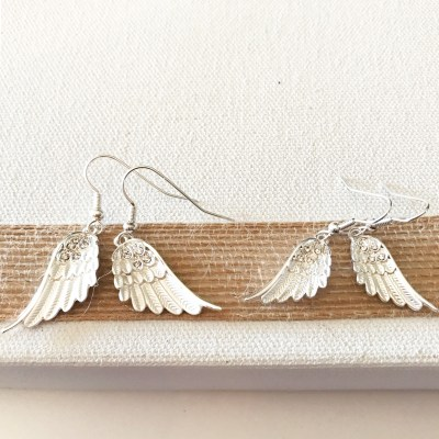 wings drop wire earrings petite and regular