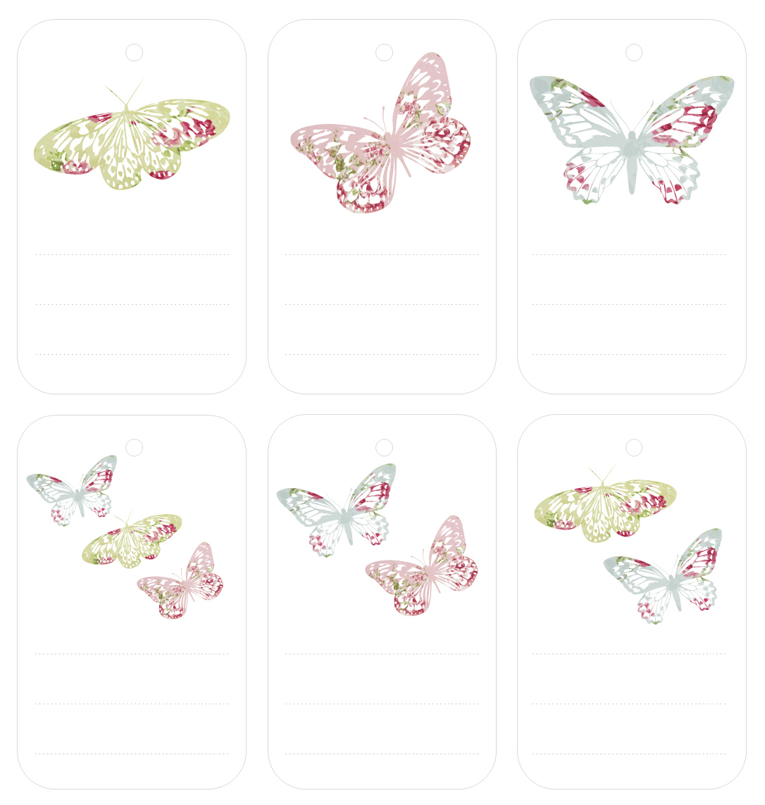 More Vintage Butterfly Freebies