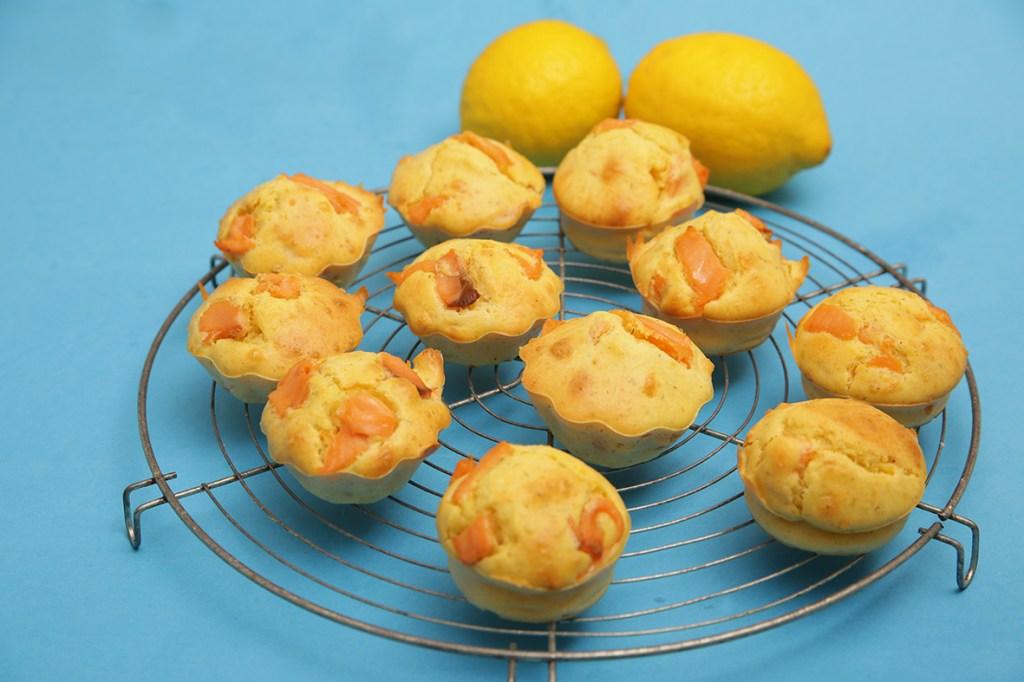 Muffins au saumon et citron