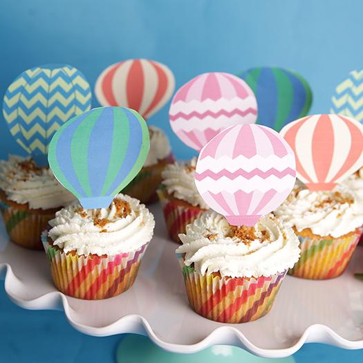 cupcake-fraise-speculoos-montgolfière