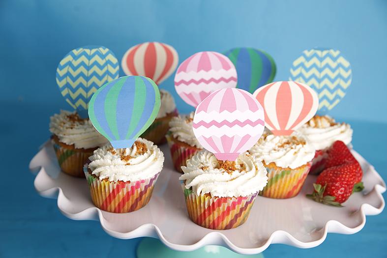 Cupcakes fraise spéculoos : Les petites montgolfières qui vont vous faire voyager au pays de la gourmandise !