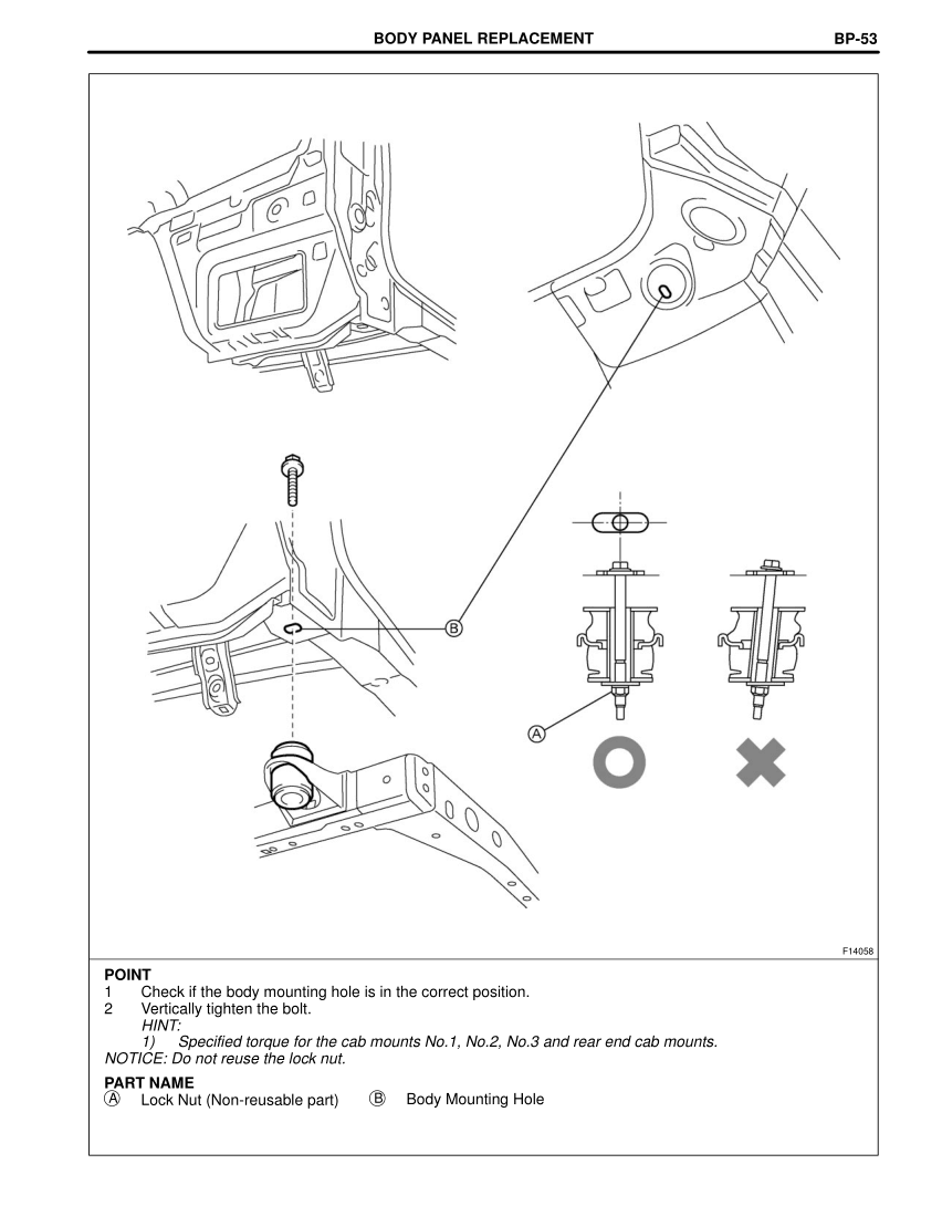 2003-2008 TOYOTA 4Runner Repair Manual, Body Lower Back