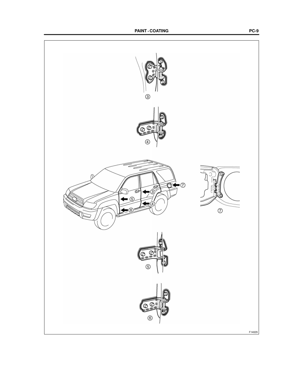 2003-2008 TOYOTA 4Runner Repair Manual, Body Panel Anti