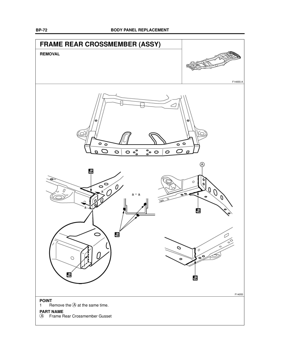 2003-2008 TOYOTA 4Runner Repair Manual, Frame Rear