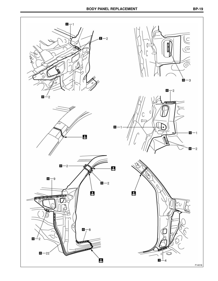 2003-2008 TOYOTA 4Runner Repair Manual, Front Body Pillar