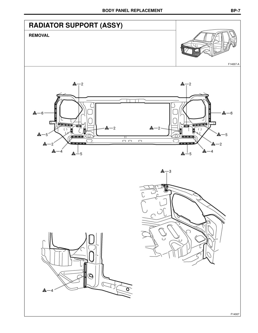 2003-2008 TOYOTA 4Runner Repair Manual, Radiator Support