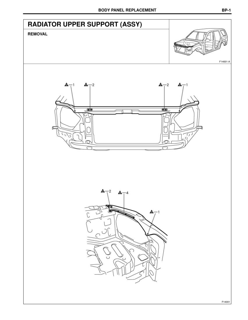 2003-2008 TOYOTA 4Runner Repair Manual, Radiator Upper
