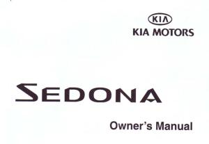 2002 KIA Sedona Owners Manual Free Download PDF Manual