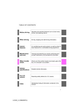 2009 Toyota Land Cruiser Owners Manual Free Download PDF