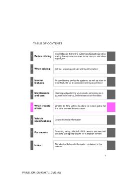 2015 Toyota Prius Owners Manual Free Download PDF Manual