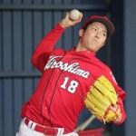 森下暢仁、初のシート打撃に登板…打者14人に投げ、わずか1安打!