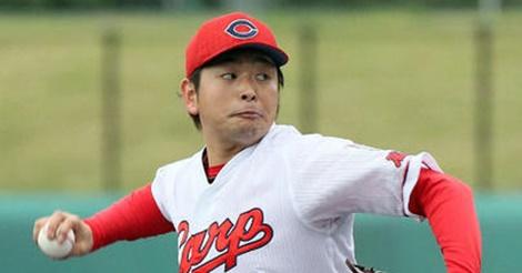 大瀬良が初シート打撃登板…2セット目は頭を整理し、見違える投球!