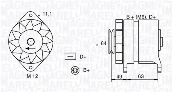Alternator for Mitsubishi L300 (P0W/P1W/P2W) 10.1987-10