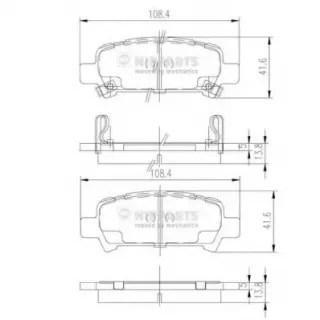 Akebono Borg /& Beck BBP1705 Rear Brake Pads Includes Wear