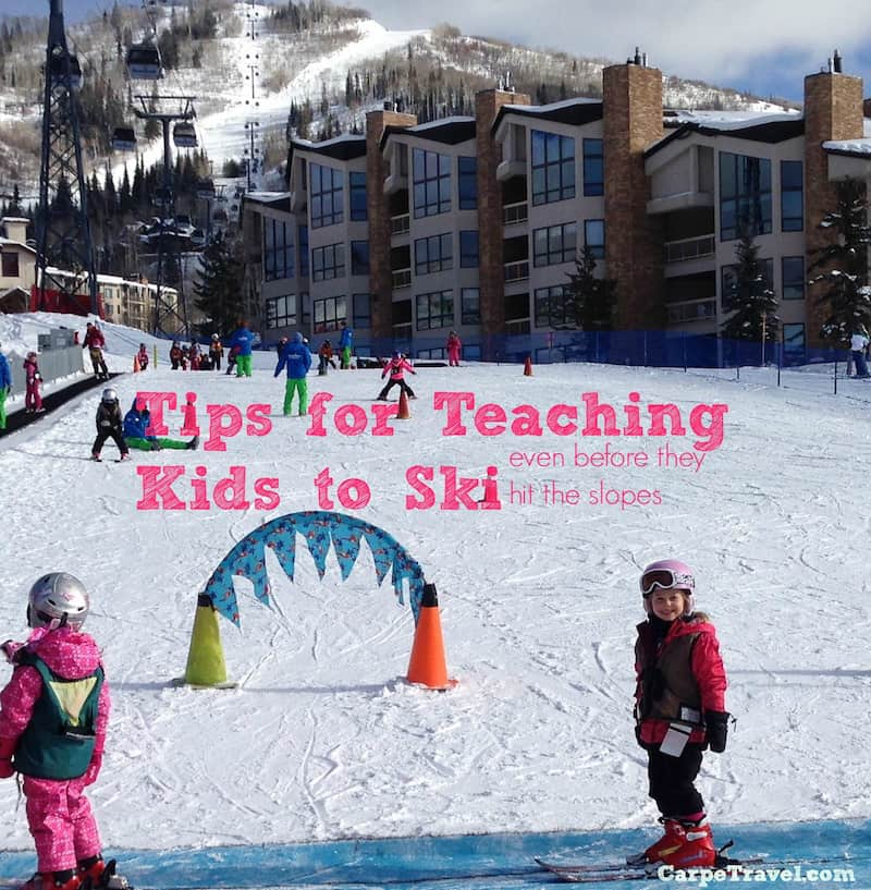 12 Tips for Teaching Kids to Ski (even before they hit the slopes)
