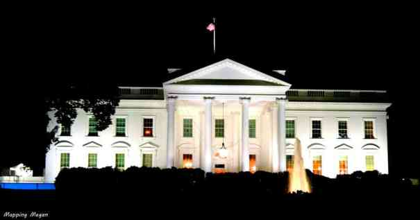 The White House in Washington DC by Megan Claire at MappingMegan.com