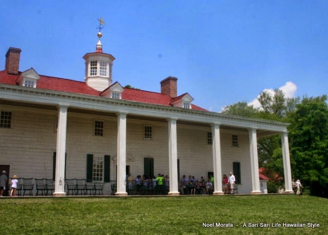 Mount Vernon, home of the first president of the United States, George Washington by Noel Morata at A Big Island Life