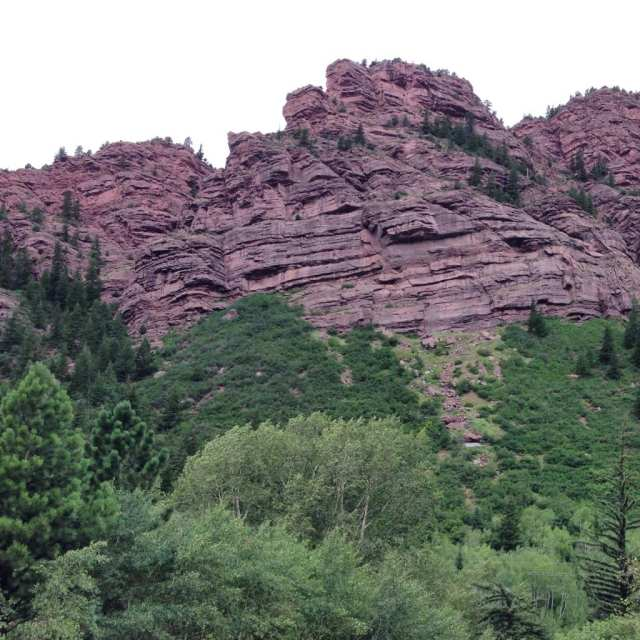 view from redstone campground