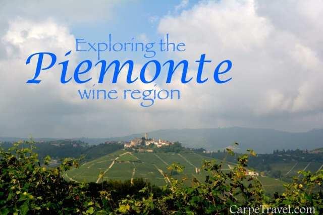Exploring wines in the Piedmont wine region of Italy