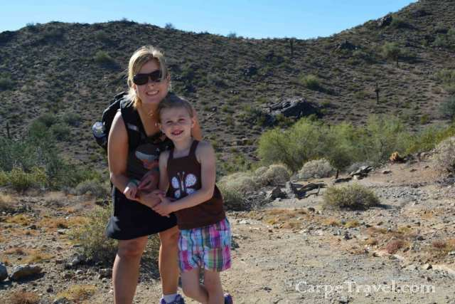 Fun things to do in Phoenix - hiking with kids