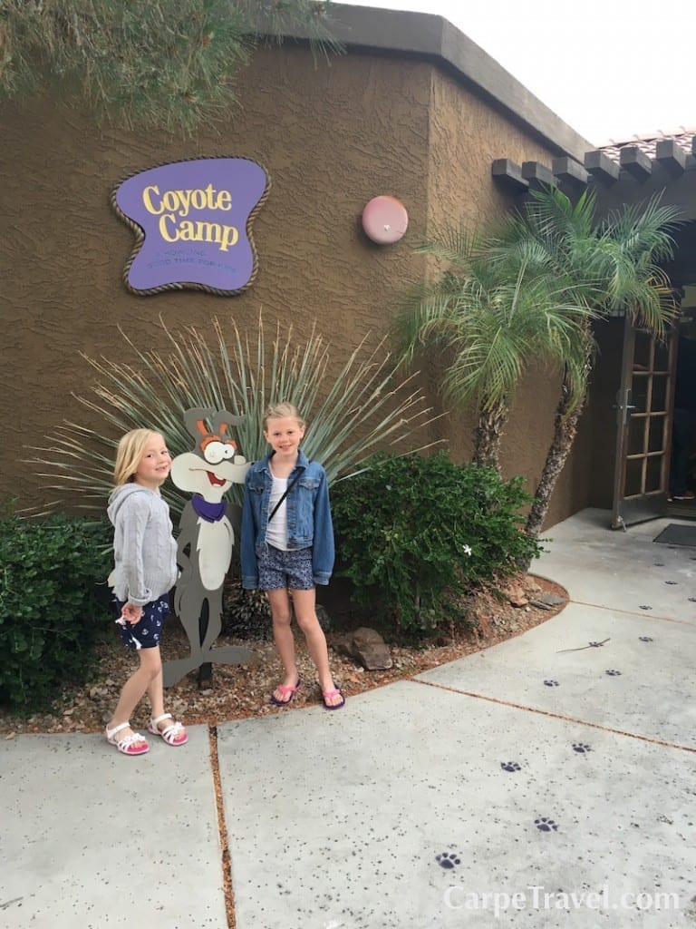 Kids can break up the day when they're at the Pointe Hilton Squaw Peak Resort by spending some time in the Coyote Kids Camp. There are activities for kids ages 4-12 with full-day, half-day and evening camp programs available starting from $35.