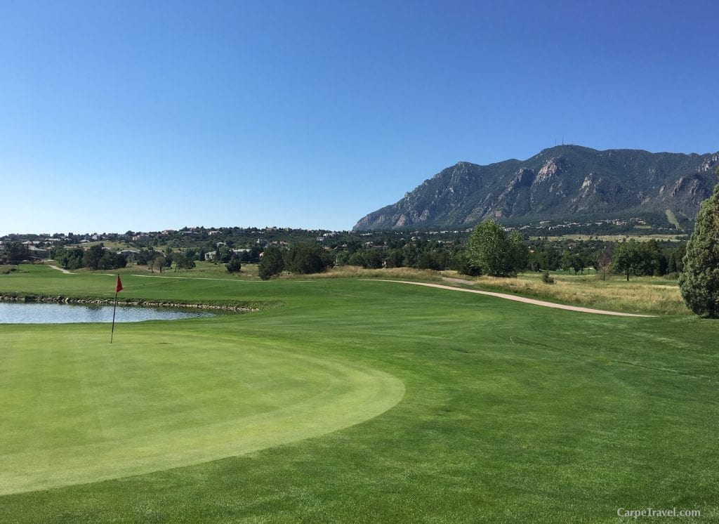 Cheyenne Mountain Resort features an 18-hole championship course designed by the legendary Pete Dye. The course is set alongside the resorts 35-acre lake, and the base of Cheyenne Mountain creating a picturesque golf setting. The view may actually effect your game… Click over for Carpe Travel's full review of Cheyenne Mountain Resort in Colorado Springs.