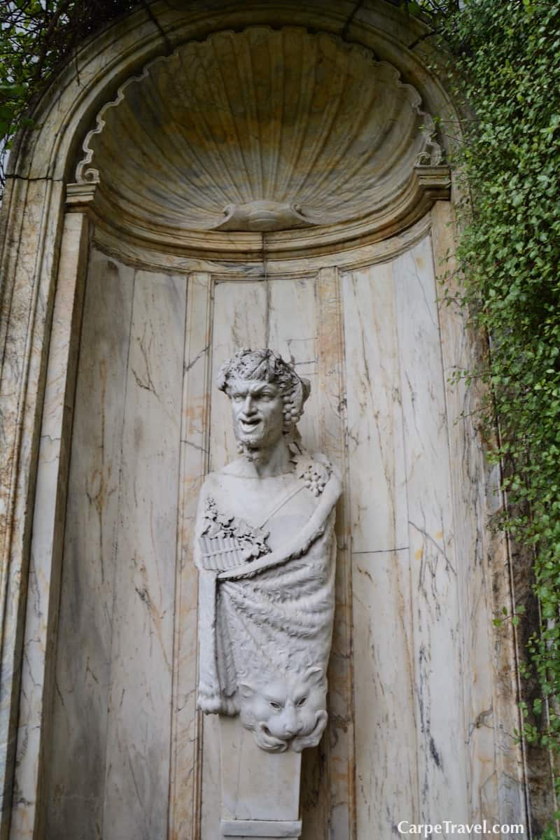 This statue of Baccus, the Greek God of wine was a dowery gift from the Princess of Torino to the Prince of Brussels. It's new home is within the gardnes of Clos Pegase.Click over for more - Interview with Robin Akhurst, the winemaker at Clos Pegase Winery in Napa Valley.