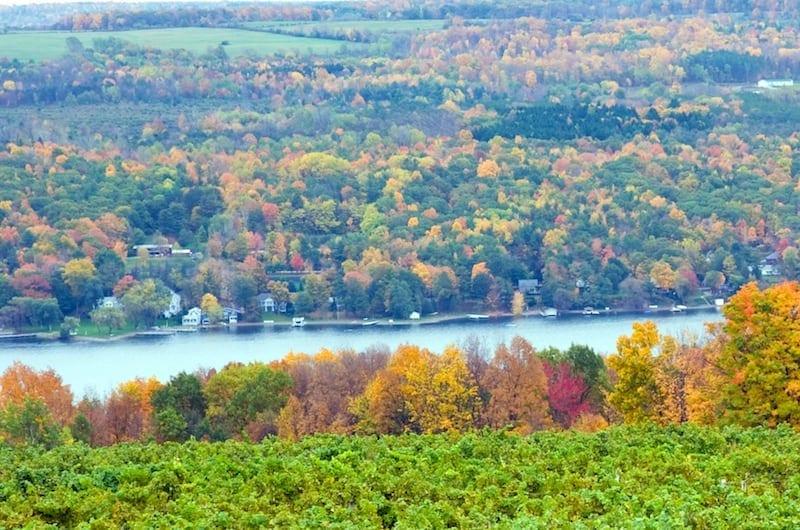 Seneca Lake in the Finger Lakes wine region