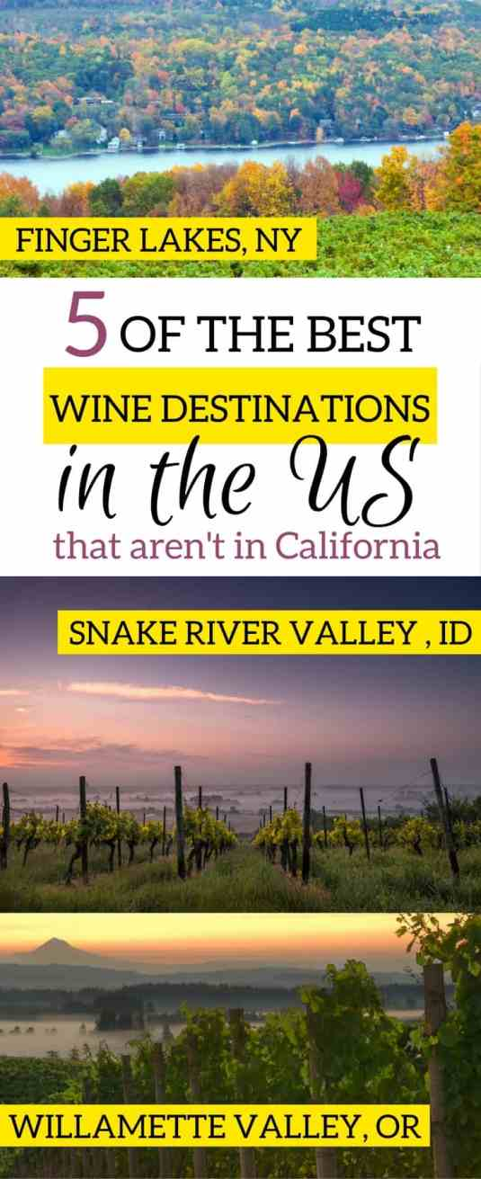 5 wine destinations in the us not california