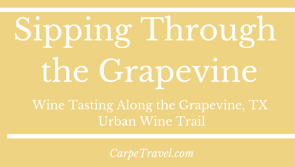 Sipping Through the Grapevine