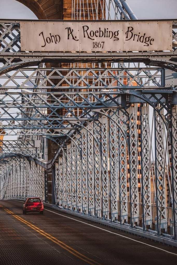 Roebling Suspension Bridge - One of the best Cincinnati attractions to see if you're looking for things to do in Cincinnati.