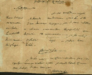 carta escrita por Napoleón