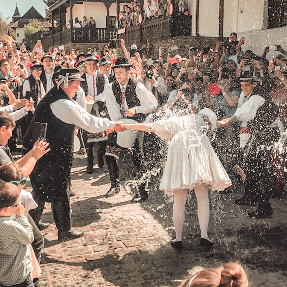 Easter in europe- The Sprinkling in Holloko Hungary