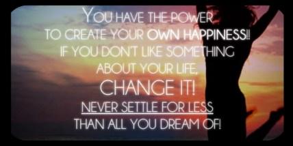 Never Settle for Less