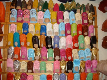 Colorful leather slippers, Marrakech, Morocco