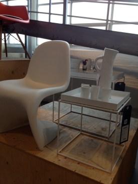 The Verner Panton chair...
