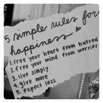 5 Simple Rules for Happiness!