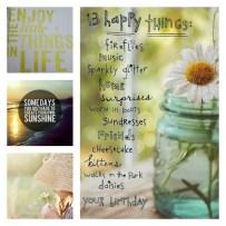 13 Happy Things