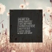 Go Whole Heartedly into.... Frank Lloyd Wright