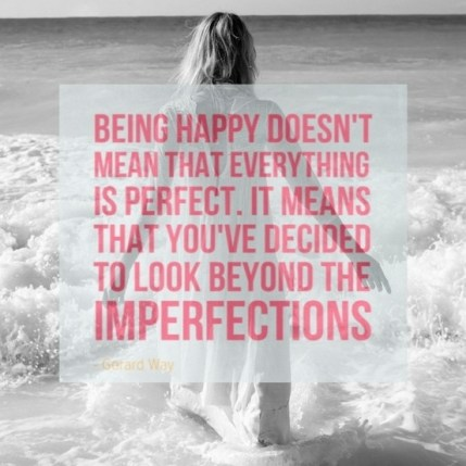 Look Beyond the Imperfections
