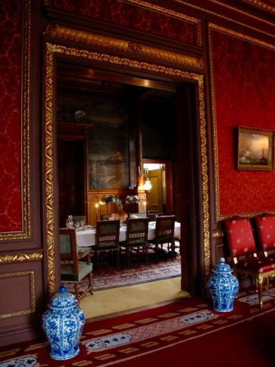 Dining room seen from the Red Salon