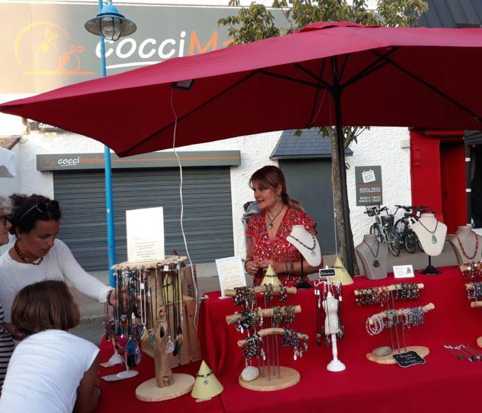 marché nocturne Damgan bijoux pierres naturelles et soins énergétiques