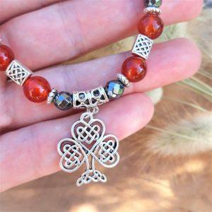 bracelet celtique cornaline hématite arbre de vie