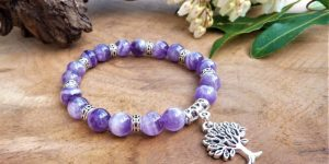 bracelet femme améthyste chevrons paix force rigueur